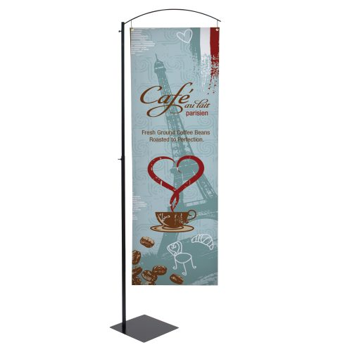 Curved Cantilever Banner Display