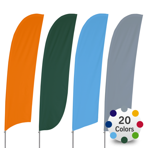 Stock Color Feather Flags